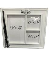 "Photo Frame 5 1/2"" X 3 1/2"" 3 Opening Graduation White Metal Tassel ~ N ... - $4.36"