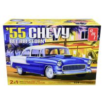 Skill 2 Model Kit 1955 Chevrolet Bel Air Sedan 2 in 1 Kit 1/25 Scale Mod... - $48.38