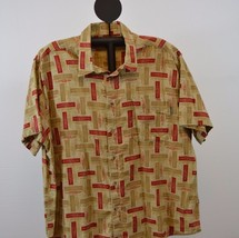 Woolrich Hawaiian 100% Cotton Short Sleeve Shirt 2XL (Beige) - $38.94