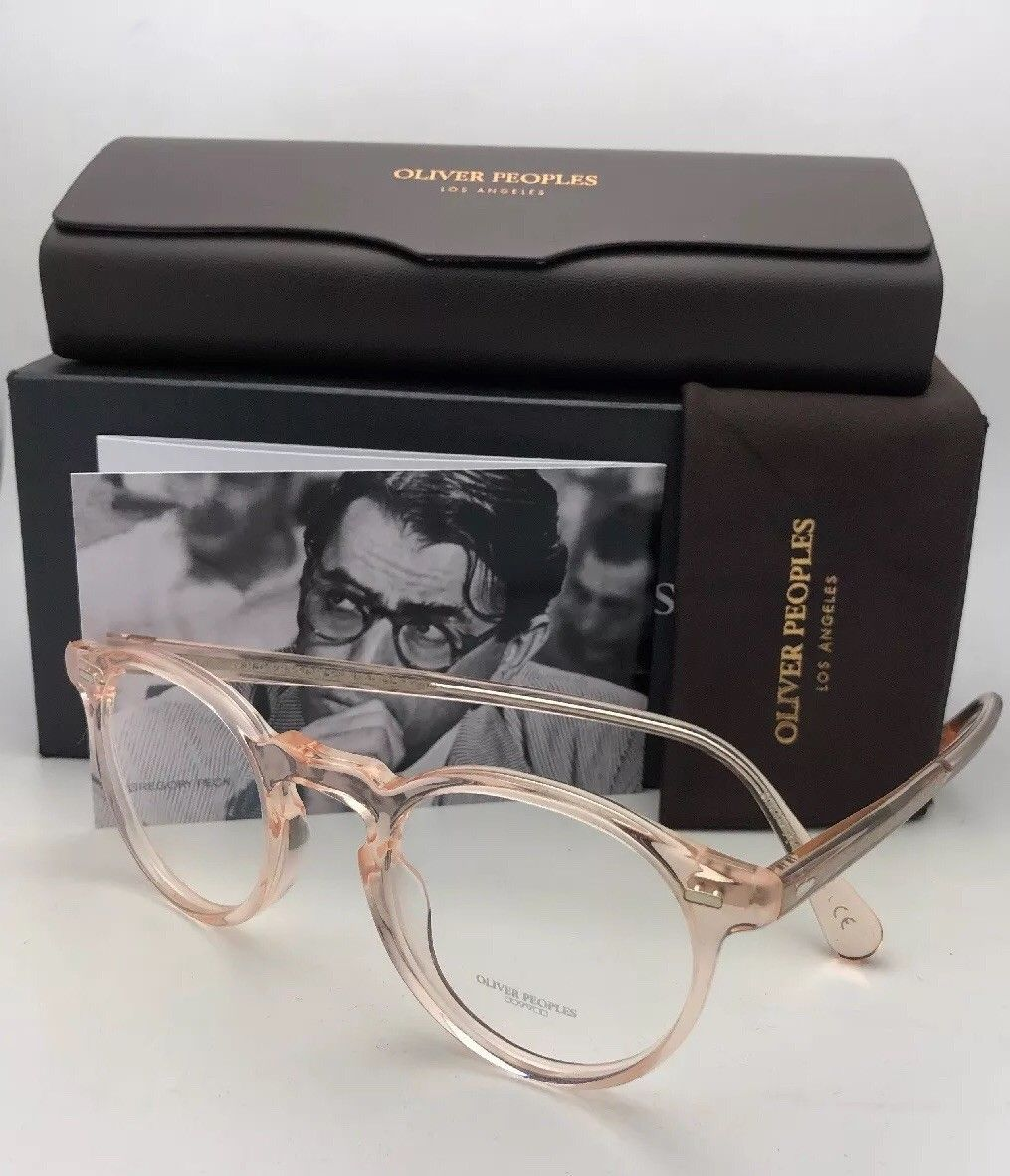 b9af8d696b 57. 57. New OLIVER PEOPLES Eyeglasses GREGORY PECK OV 5186 1652 45-23 Round  Silk Frames. New ...