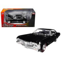 1967 Chevrolet Impala Black Showroom Floor 1/24 Diecast Model Car by Jad... - $37.75