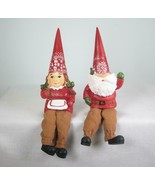 Nordic Gnome Shelf Sitters Tabletop Holiday Christmas Decor Set of 2 - $12.82