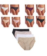 Karen Neuburger Women's Hi-Cut Brushed Microfiber Lace Briefs ( 4 Pack ) - $9.99