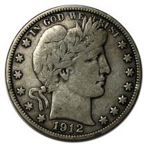 1912D Liberty Barber Head Half Dollar 50¢ Silver Coin Lot# A 728