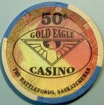 50¢ Casino Chip. Gold Eagle, Battlefords, CAN. V49. - $4.29