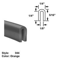 "Silicone Rubber High-Temp. U-Channel Push-On Trim, Ht. 5/16"" x Wd. 1/4"" - 25 ft - $113.26"