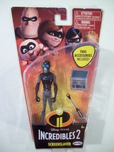 "NEW DISNEY PIXAR INCREDIBLES 2 SCREENSLAVER 4"" ACTION FIGURE JAKKS - $15.63"