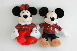 Disney Store 2013 Holiday Mickey & Minnie Plush Collectible Set NEW W TAGS - $66.99