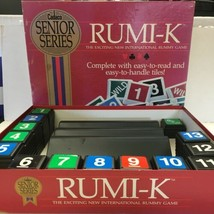 EUC Rumi-K Board Game Cadaco Senior Series 1989 Rummikub Large Tiles #970 - $28.70