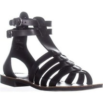 White Mountain Carson Gladiator Flat Sandals, Black - £22.71 GBP
