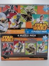 Disney Star Wars 4 Puzzle Pack 12pc Cardinal Heroes & Villains Jigsaw Pu... - $7.91
