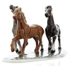 Hagen-Renaker Specialties Ceramic Horse Figurine Wild Mustangs on Base image 2