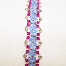 Pink and Blue Crystal Bracelet - $23.87