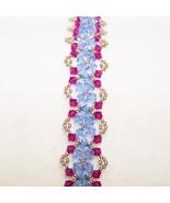 Pink and Blue Crystal Bracelet - $23.87