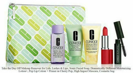 CLINIQUE 6pc Make Up Skincare Lip POP Mascara Soap Lotion Cleanser GWP - $24.99