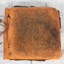 Antique Photo Album Tennessee Memory Book Leather Black & White Photographs - $103.94