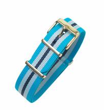 Timex Weekender Fairfield TW2P91000   Blue/White Nylon Slip-Thru 20mm Wa... - $15.83