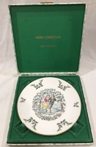 1977 Royal Doulton Merry Christmas Plate 1st in Series Original Hinged Box - $12.86