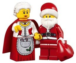 LEGO® Holiday Set of 2 Minifigures - Mrs. Claus and Santa with Red Sack - $19.30