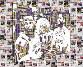 Los Angeles Lakers 2020 World Championship Word Art Newspaper Collage  - $0.00+
