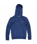 Lacoste Men's Hooded T-Shirt Heather Blue Long Sleeve Lightweight Hoodie - $54.99