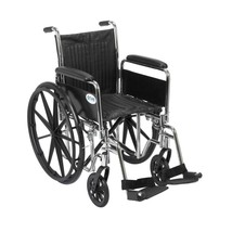 Drive Medical Chrome Sport With Full Arms and Footrests 20'' - $196.85