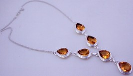 Citrine  Silver Overlay Handmade Jewelry Necklace JH-28-26 - $25.19