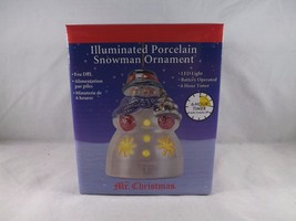 Mr. Christmas Illuminated Porcelain Ornament - New - Snowman - $16.14
