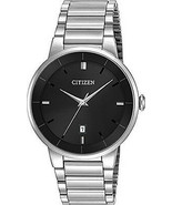 Brand New Citizen Quartz BI5010-59E Men's Stainless Steel Black Dial Dre... - $89.09