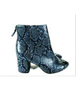 Old Navy Blue Black Snakeskin Pattern Heels Ankle Boots Women's 9 (SW3) - $38.34