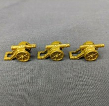 Risk 40th Anniversary Edition Board Game Metal Cannons 3 Pieces Gold Army - $6.85