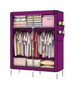 "Purple Cover Portable Closet Wardrobe Clothes Garment Storage Rack 43"" W... - $64.25"