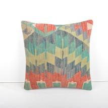 kilim pillow 16x16inc kilim Cushion Cover,Ethnic Anatolian Kilim  Pillow... - $39.00
