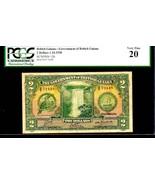 "BRITISH GUIANA P13b $2 1938 PCGS 20 ""TOUCAN BIRD"" RARE $2! PERFECT CENTE... - $1,275.00"