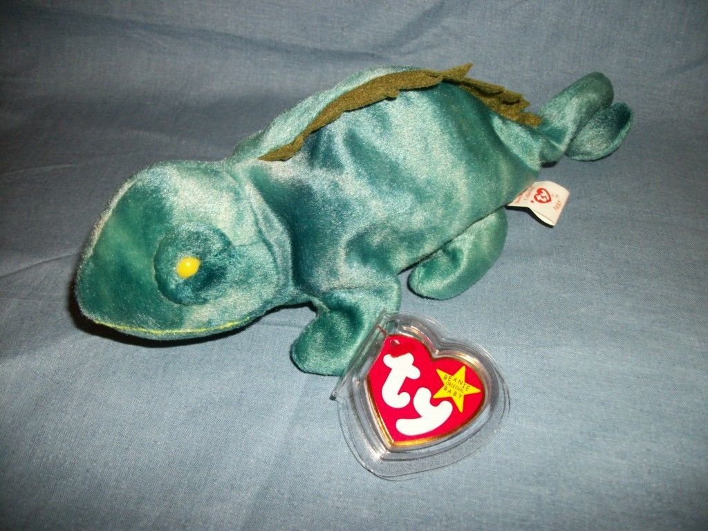 TY Beanie Babies Iggy The Iguana With Hang Tag  9/12/97