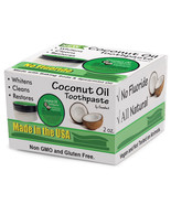 Virgin Coconut Oil Teeth Whitening Toothpaste with Baking Soda - 3 PACK DEAL - $23.24