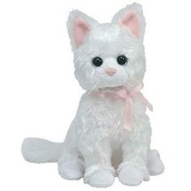 Sugar the White Cat  Pink Ribbon Ty Beanie Baby Retired MWMT Collectible - $44.50