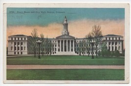 Vintage 1940s Court House and City Hall Denver County CO Postcard - $20.90