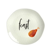 "Thanksgiving Feast Heavyweight Melamine 10.5"" Dinner Plates Set of 6 Rus... - $48.90"