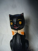Bethany Lowe Black Cat Halloween Kitty on a Jack O Lantern Pumpkin image 5