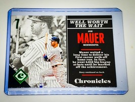 Mlb Joe Mauer Minnesota Twins 2017 Panini Chronicles Baseball 115/199 Mint - $2.34