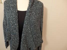 XL 1X Women 16 18 20 Sweater Cardig Coat Jacket Shawl Wool Knit Open Dra... - $24.01
