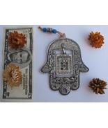 Pewter hamsa Jerusalem ornament w/hanging 12 tribes choshen gems travel ... - £17.97 GBP