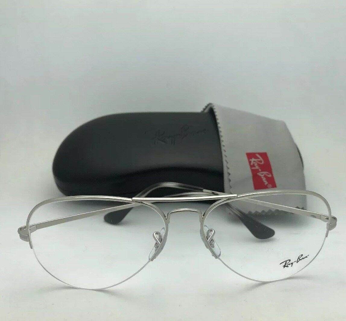 55bad2081bc New RAY-BAN Eyeglasses RB 6589 2501 56-15 140 Aviator Semi ...