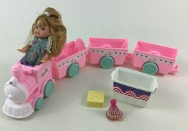 Barbie Kelly Nursery Train Playset Lot with 4pc Train Car Doll Mattel 1990s - $24.70