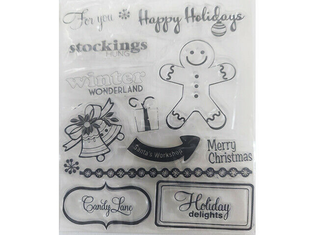 Holiday Delights Clear Stamp Set with Sentiments and Icons