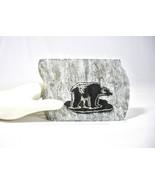 "Vintage Laser Cut Bear on Soapstone, Black Bear, 4"" x 3"", Etched, Collec... - $26.00"