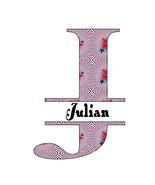 26 Names 2A Split Letter Monogram-Digital ClipArt-JPG-Stars-The 4th of July - $10.00
