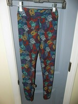 Lulaloe Multi-Colored Owls Blue Leggings Size L/XL Girl's EUC - $21.33