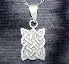 NICE CeLtIc Infinity KnOt Wicca PeNdAnT Charm Authentic real Sterling Si... - $21.17